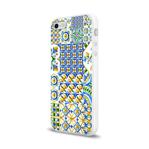 Чехол для Apple iPhone 5/5S силиконовый глянцевый  Фото 03, Майолика 3