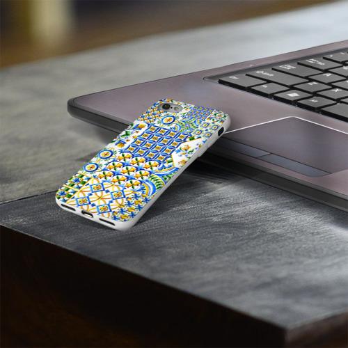 Чехол для Apple iPhone 8 силиконовый глянцевый  Фото 03, Майолика 3