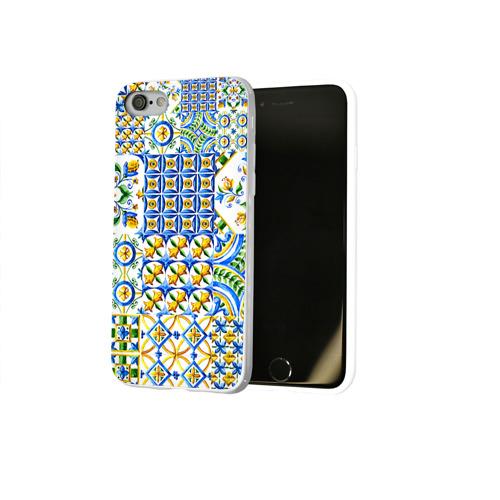 Чехол для Apple iPhone 8 силиконовый глянцевый  Фото 02, Майолика 3