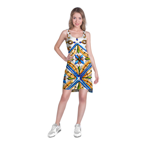 Платье-майка 3D  Фото 03, Майолика 4