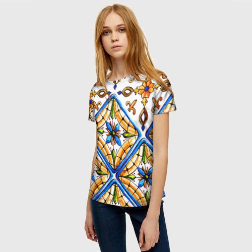 Женская футболка 3D Майолика 4 Фото 01