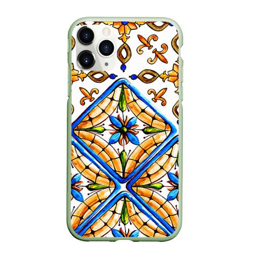 Чехол для iPhone 11 Pro матовый Майолика 4 Фото 01