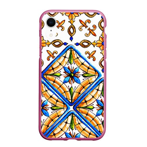 Чехол для iPhone XR матовый Майолика 4 Фото 01