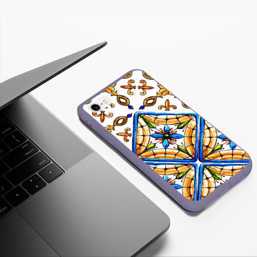 Чехол для iPhone 6Plus/6S Plus матовый Майолика 4 Фото 01