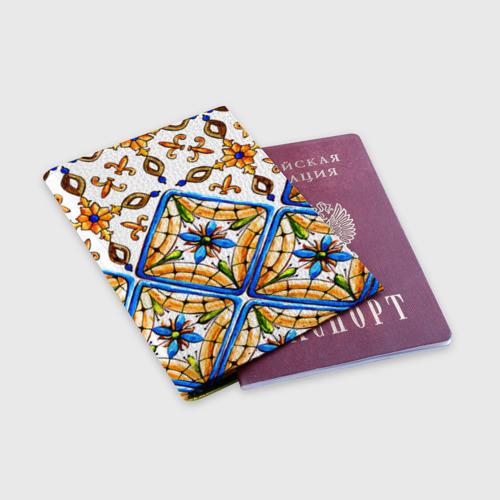 Обложка для паспорта матовая кожа Майолика 4 Фото 01