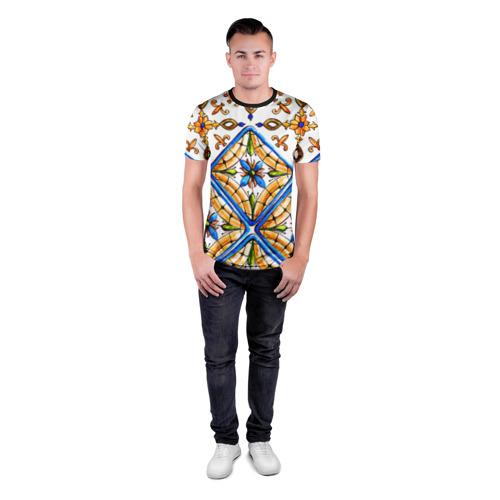 Мужская футболка 3D спортивная Майолика 4 Фото 01