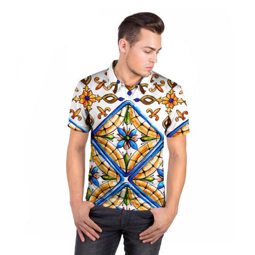 Мужская рубашка поло 3D  Фото 05, Майолика 4