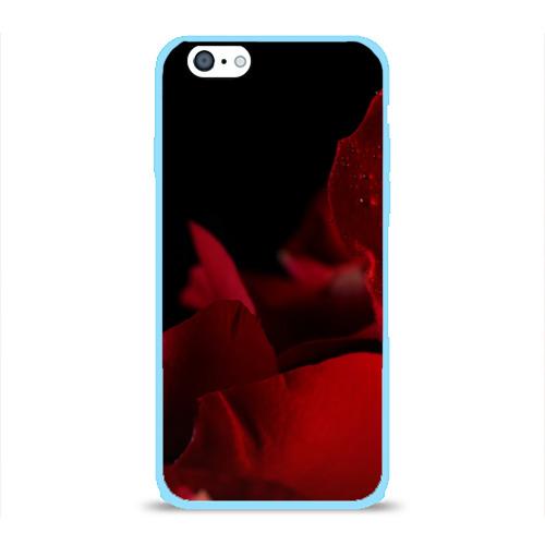 Чехол для Apple iPhone 6 силиконовый глянцевый Лепестки розы Фото 01
