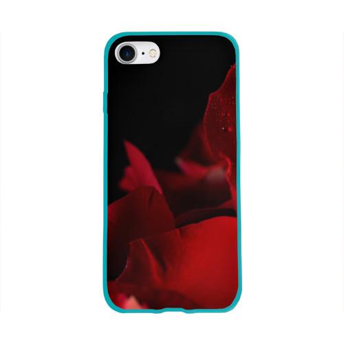 Чехол для Apple iPhone 8 силиконовый глянцевый Лепестки розы Фото 01