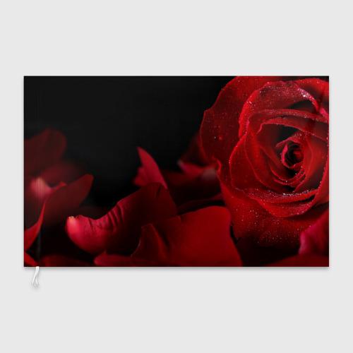 Флаг 3D Лепестки розы Фото 01