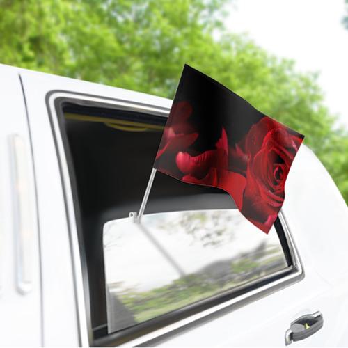 Флаг для автомобиля Лепестки розы Фото 01