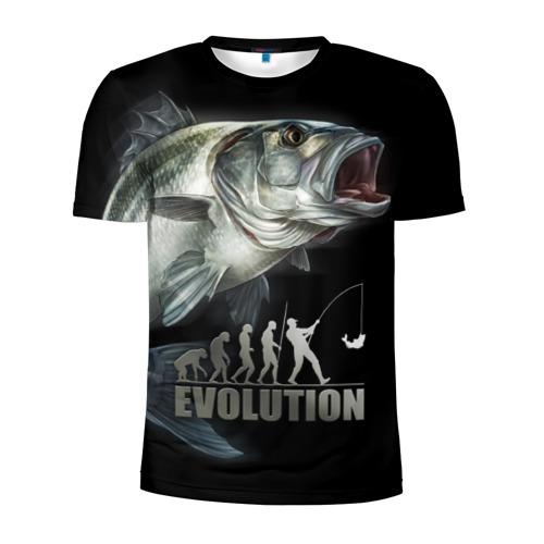 Мужская футболка 3D спортивная Эволюция