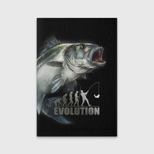 Обложка для паспорта матовая кожа Эволюция