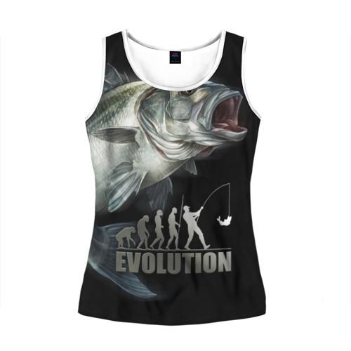 Женская майка 3D Эволюция
