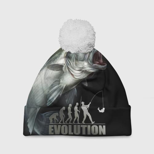 Шапка 3D c помпоном Эволюция