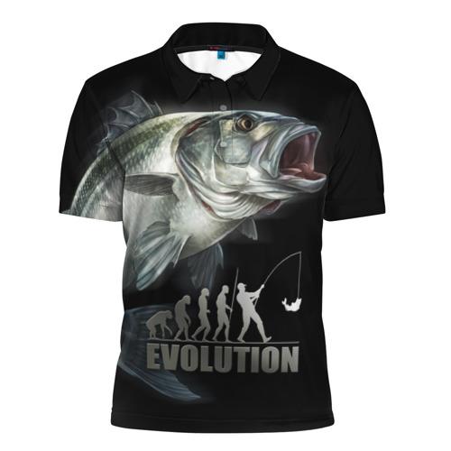 Мужская рубашка поло 3D Эволюция