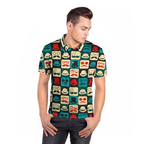 Мужская рубашка поло 3D  Фото 05, Хипстер 3