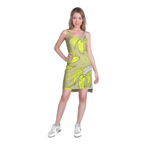 Платье-майка 3D  Фото 03, Банан 8