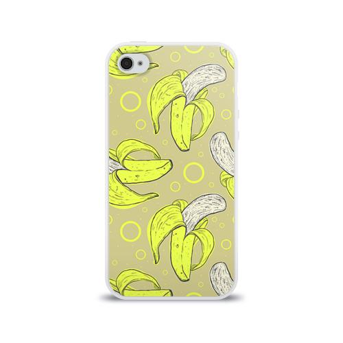 Чехол для Apple iPhone 4/4S силиконовый глянцевый  Фото 01, Банан 8