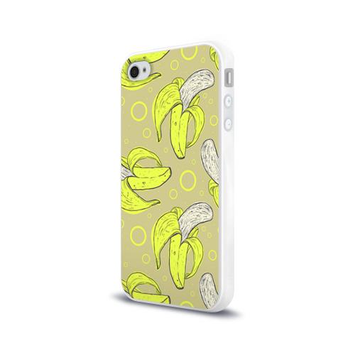 Чехол для Apple iPhone 4/4S силиконовый глянцевый  Фото 03, Банан 8