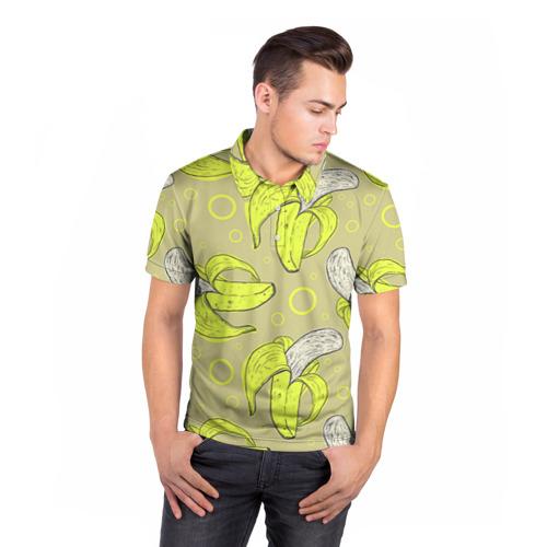 Мужская рубашка поло 3D  Фото 05, Банан 8