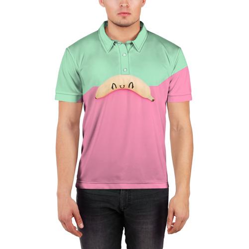 Мужская рубашка поло 3D  Фото 03, Банан 7