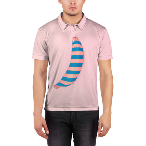 Мужская рубашка поло 3D  Фото 03, Банан 3