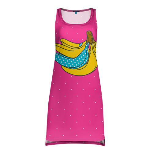 Платье-майка 3D  Фото 01, Банан 2