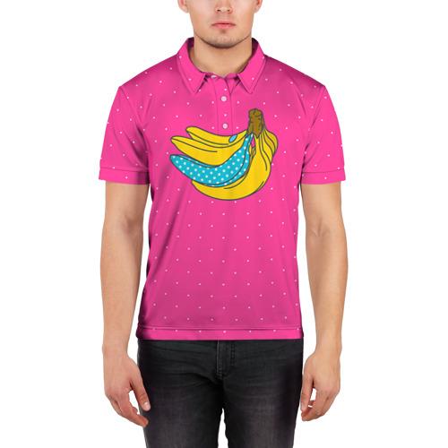Мужская рубашка поло 3D  Фото 03, Банан 2