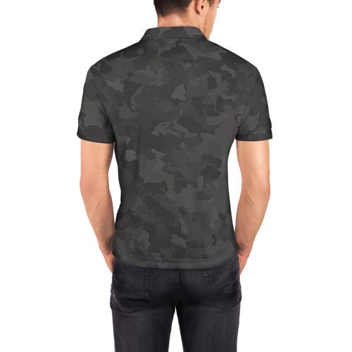 Мужская рубашка поло 3D  Фото 04, Обезьяна с бананом. Камуфляж