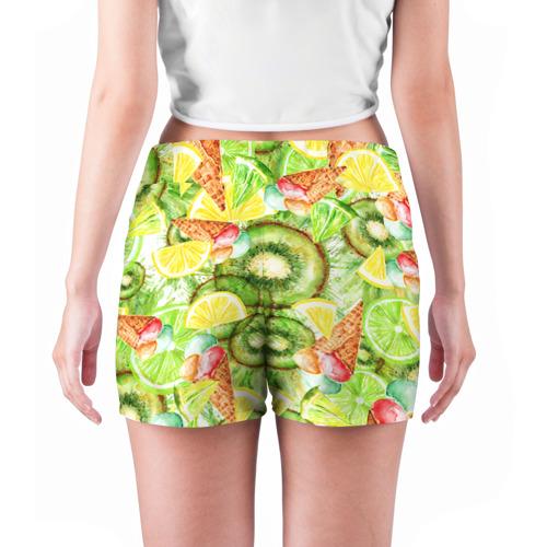 Женские шорты 3D  Фото 04, Веселые фрукты 2