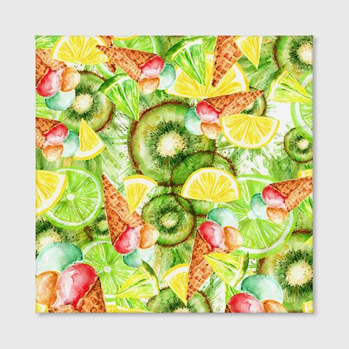 Холст квадратный  Фото 02, Веселые фрукты 2