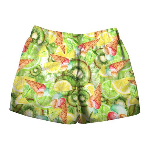 Женские шорты 3D  Фото 02, Веселые фрукты 2