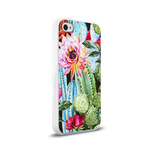 Чехол для Apple iPhone 4/4S силиконовый глянцевый  Фото 02, Зелень