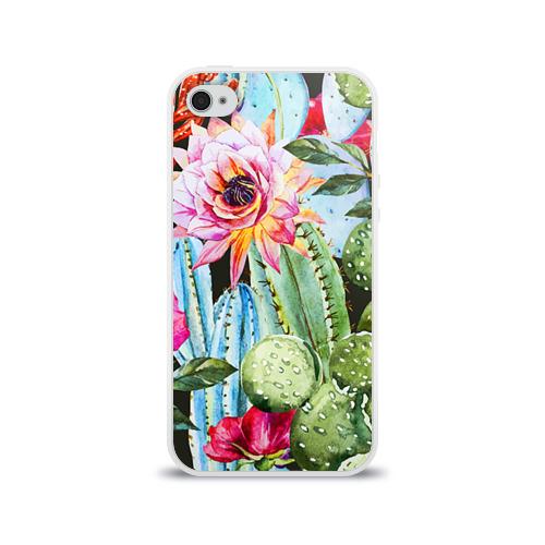 Чехол для Apple iPhone 4/4S силиконовый глянцевый  Фото 01, Зелень