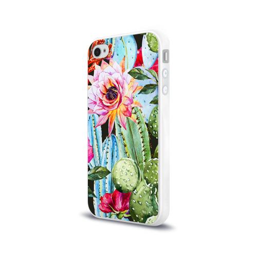 Чехол для Apple iPhone 4/4S силиконовый глянцевый  Фото 03, Зелень
