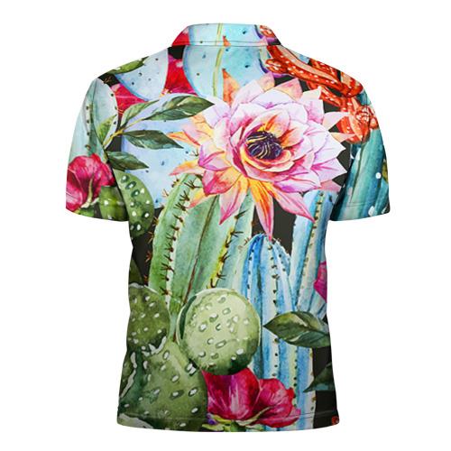 Мужская рубашка поло 3D  Фото 02, Зелень