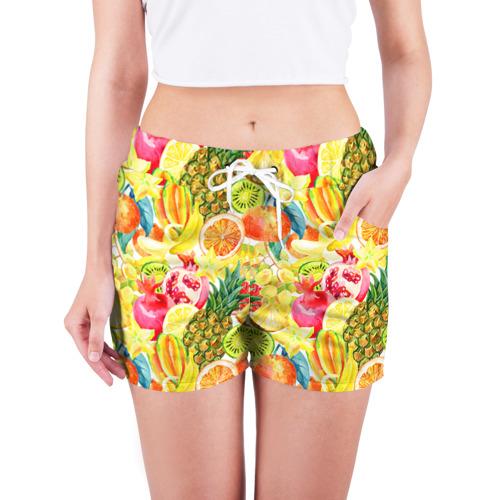Женские шорты 3D  Фото 03, Веселые фрукты 1