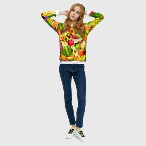Женский свитшот 3D  Фото 01, Веселые фрукты