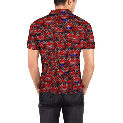 Мужская рубашка поло 3D  Фото 04, Какодемоны (pixel-art)