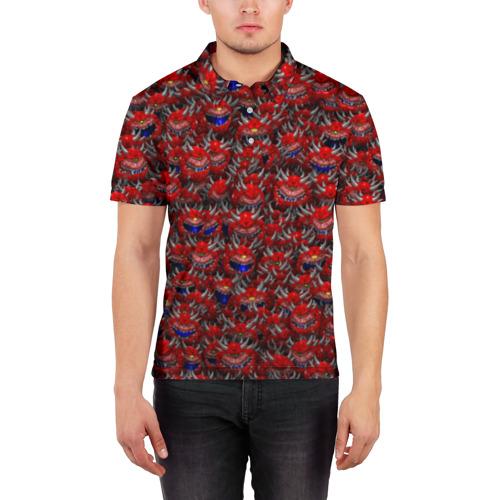 Мужская рубашка поло 3D  Фото 03, Какодемоны (pixel-art)