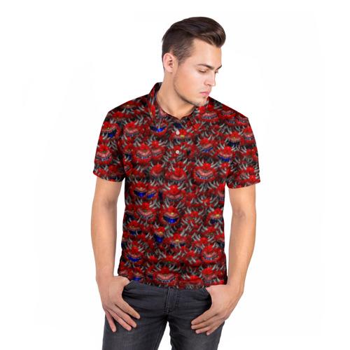 Мужская рубашка поло 3D  Фото 05, Какодемоны (pixel-art)