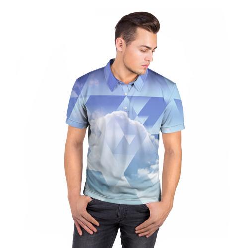 Мужская рубашка поло 3D  Фото 05, Геометрия 5