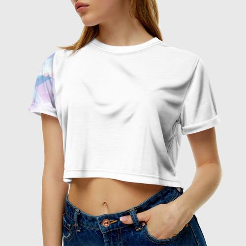 Женская футболка 3D укороченная Геометрия 4
