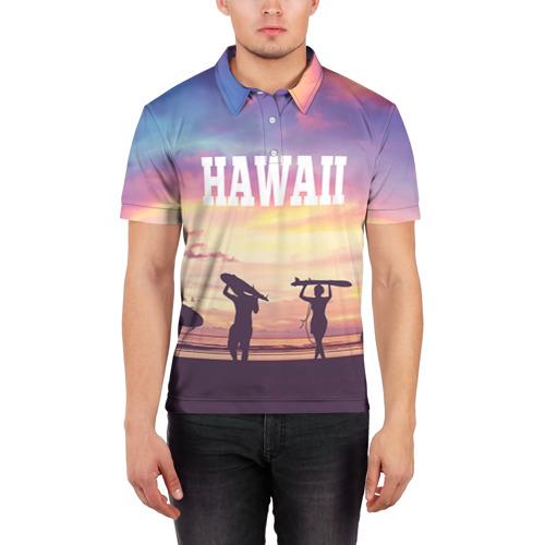 Мужская рубашка поло 3D  Фото 03, HAWAII 3