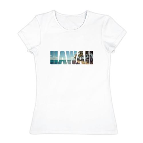 Женская футболка хлопок  Фото 01, HAWAII 8