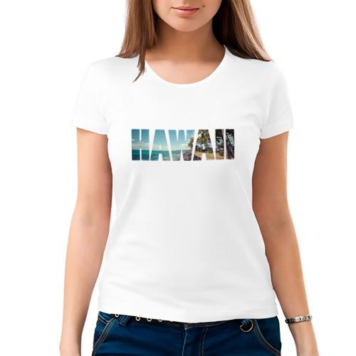 Женская футболка хлопок  Фото 03, HAWAII 8