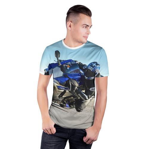 Мужская футболка 3D спортивная Yamaha Фото 01