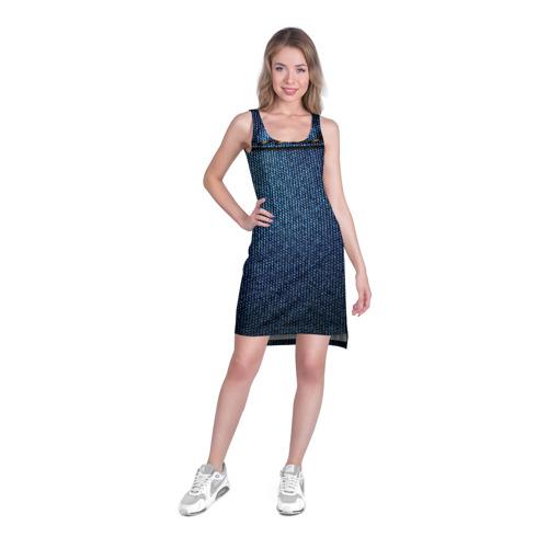 Платье-майка 3D  Фото 03, Джинс