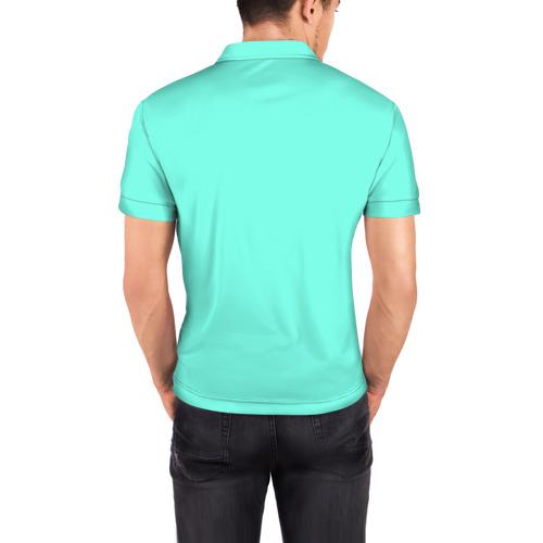 Мужская рубашка поло 3D  Фото 04, Цветочный принт